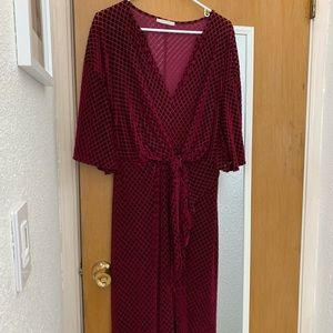 Zara surplice Dress